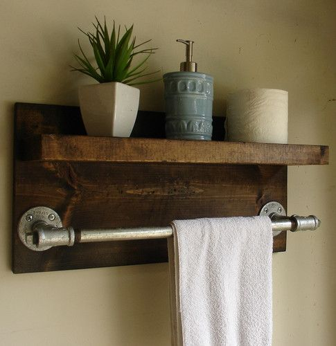 Rustic Industrial Towel Rack Dwell Beautiful