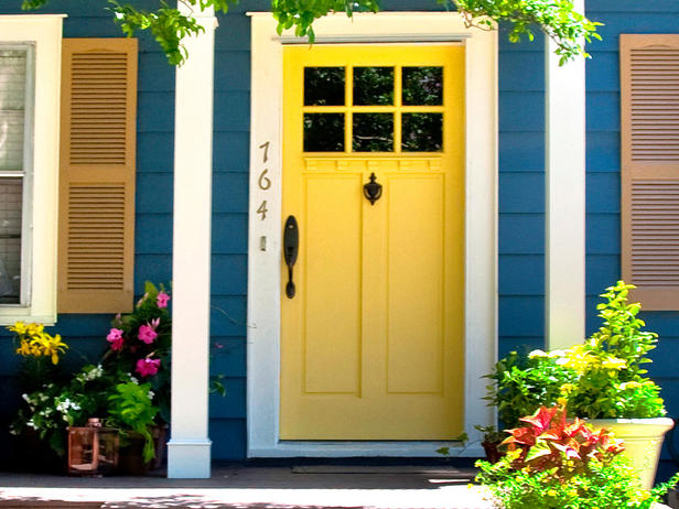 Mustard Yellow Front Door Color Ideas Dwell Beautiful