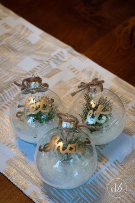 Let It Snow Ornaments December Diy Challenge Dwell