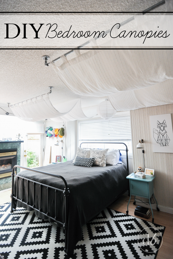 & February DIY Challenge: Bedroom Canopy - Dwell Beautiful