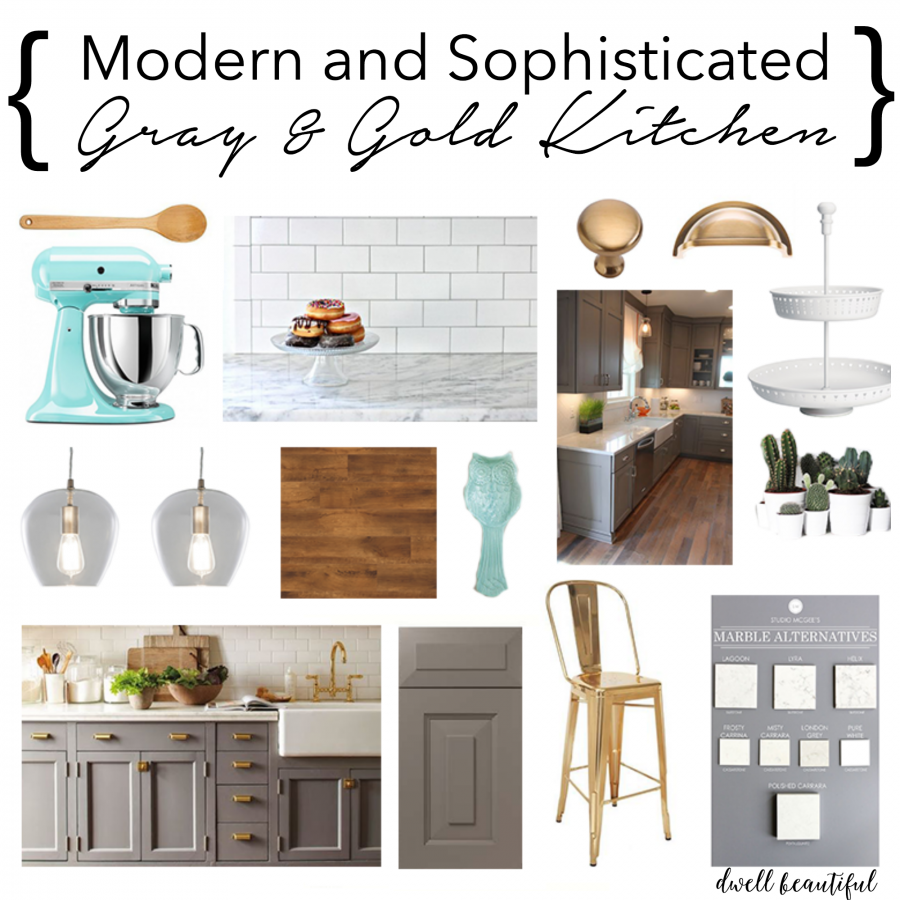 Modern Gray And White Bedroom: Modern Gray And Gold Kitchen Mood Board