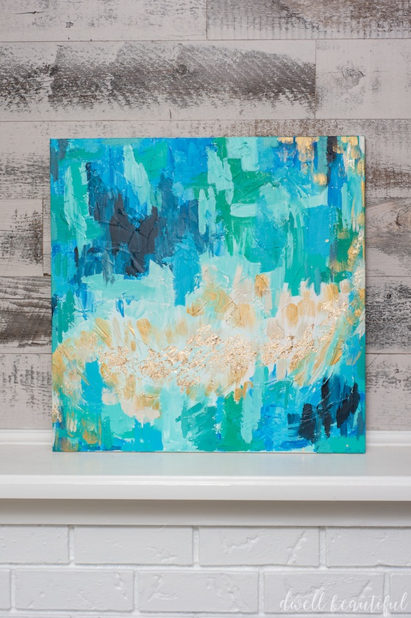 Monthly DIY Challenge Abstract Canvas Art That Anyone Can