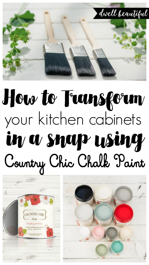How to Paint Your Kitchen Cabinets with Chalk Paint Dwell Beautiful