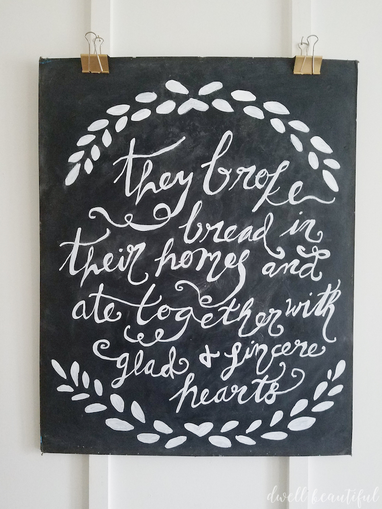 Diy Wall Art Big : Large diy chalkboard wall art monthly challenge