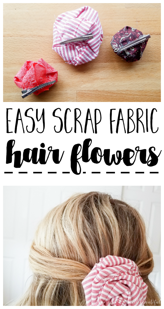 How to Make Easy Scrap Fabric Flowers to Put On Just About ...
