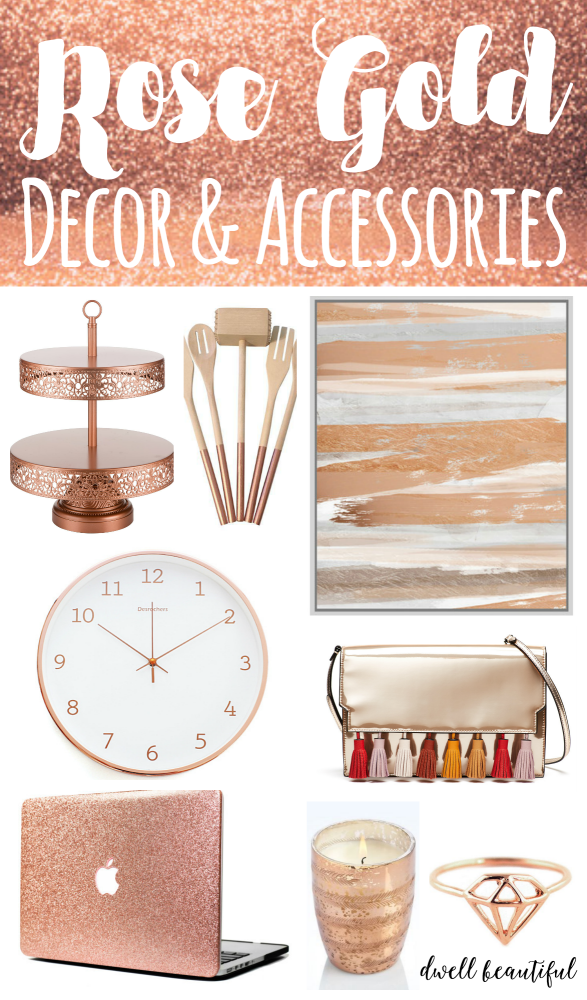 Design trend stylish rose gold home decor and accessories for Home decor and accessories