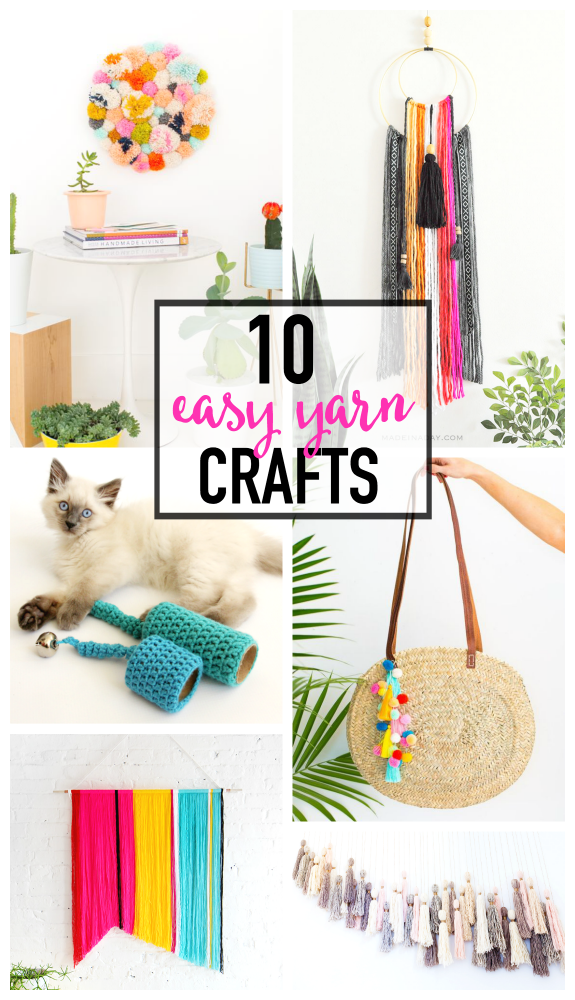 10 Colorful and Easy Yarn Crafts that Will Make You Smile