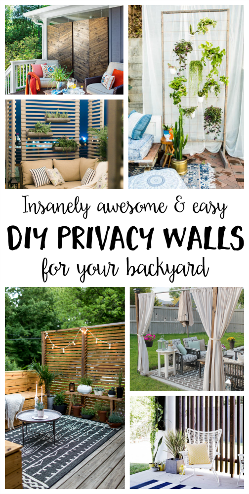 Insanely Awesome and Easy DIY Privacy Walls for Your Yard ...