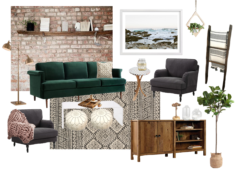 Cozy boho living room style board dwell beautiful for I ve been seeing angels in my living room